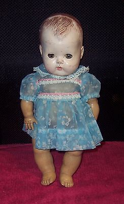 """Vintage 12"""" American Character Tiny Tears Doll #2675644 Molded Hair Rubber Body"""