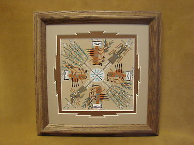 Native American Indian Authentic Navajo Sandpainting by Darlene Thomas