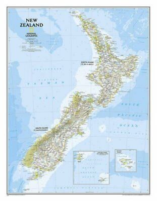 New Zealand, Tubed by National Maps 9781597756334 (Sheet map, rolled, 2016)