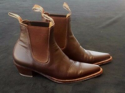 RM Williams Ladies Tan Leather Boots Size 6.5