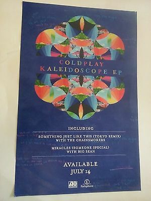 POSTER by COLDPLAY kaleidoscope For the bands tour concert promo album cd *