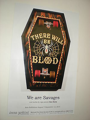 0 POSTERS there will be blood SKATEBOARD  Independent trucks ART Piece creature