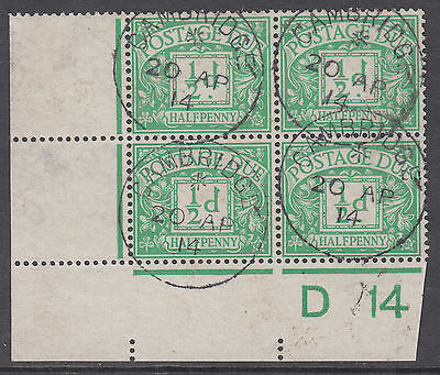 1914 1/2d green D14 Cylinder Block 20 AP 'FDC';Manchester CDS;STC £1875 on Cover