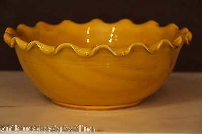French signed glaze PROVINCIAL BOWL signed Vallauris mid century original Anduze
