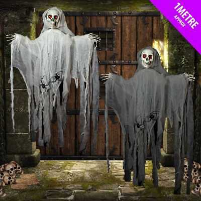 Skeleton Ghost Halloween Spooky Hanging Party Decoration Prop 1 Metre Tall 11960