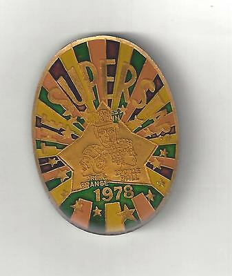 1978 Krewe Endymion Multi Color Oval Cloisonne Mardi Gras Doubloon Coin Lucy