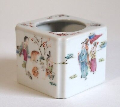 Fine antique Chinese 19th century porcelain famille rose brush washer