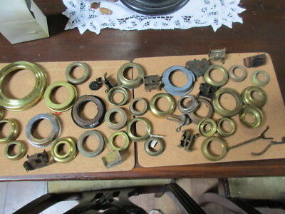 vintage oil lamp parts collars snuffer button etc