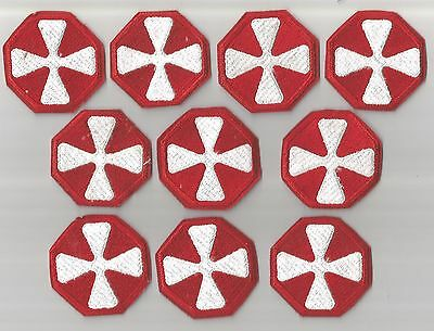 Lot Of 10 U.s.8Th Army Patches- Cut Edge(M/p 152)