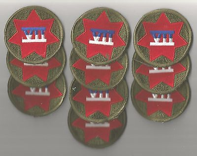 Lot Of 10 U.s. Army Vii Corps  Patches(M/p 1507)