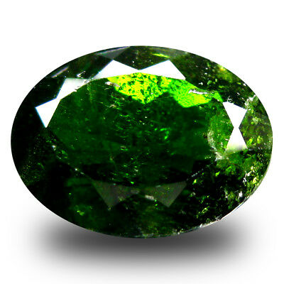 4.82 ct  Grand looking Oval Shape (12 x 9 mm) Green Chrome Diopside Gemstone