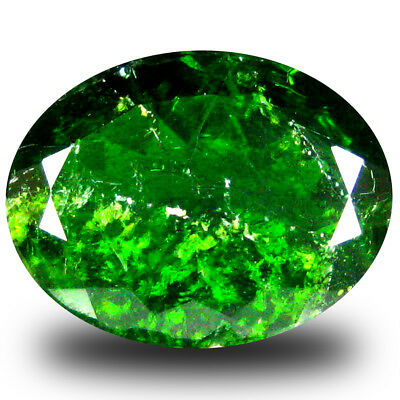 6.53 ct  Great looking Oval Shape (14 x 11 mm) Green Chrome Diopside Gemstone
