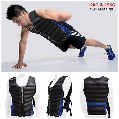 Sporteq Weighted Vest Strength Training Jacket Gym Fitness Weight Loss 12kg 15kg