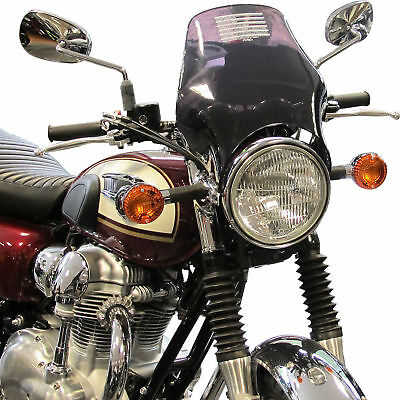 Motorbike Motorcycle Fly Screen Puig Naked Windscreen For Round Headlamp