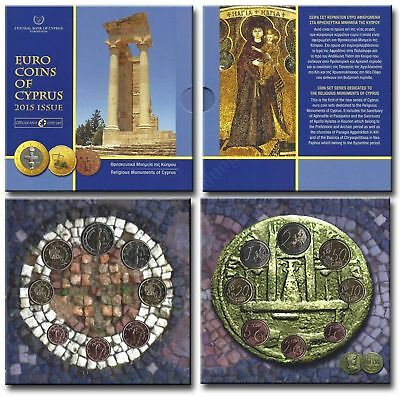 Cyprus 2015: KMS (1 Cent - Brilliant uncirculated with Standard coinage Folder