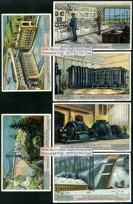 Hydroelectricity Power Generation  6  1930s Trade Ad Cards