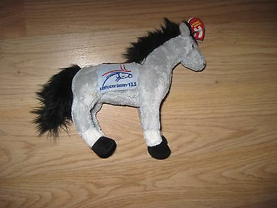 2007 Ty Beanie Baby 133 Kentucky Derby Plush Horse/Free Ship!