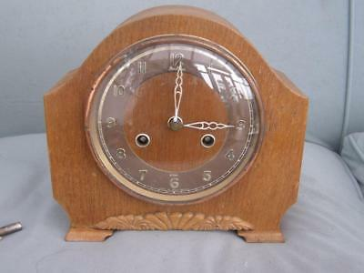 Antique / Vintage Key Wound Mantle Clock with Chime