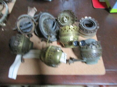 oil lamp parts old burners  etc all as found some good ones