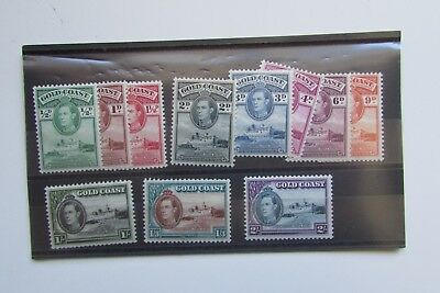XL2759: Gold Coast 1938 Mint Stamp Set to 2/-