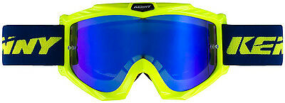 Masque cross / jetski / enduro / PWC TRACK Yellow - Iridium bleu KENNY 2018