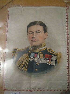 Great War WW1 Large Silk Cigarette Card - Vice-Admiral Beatty (anon)