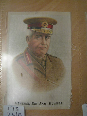 Great War WW1  Silk Cigarette Card - General Sir Sam Hughes