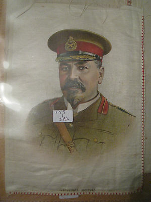 Great War WW1 Large Silk Cigarette Card - General Botha (anon)