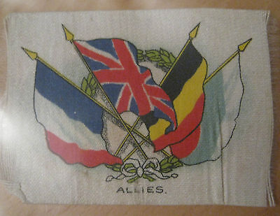 Great War WW1 Silk Cigarette Card - Allies Flags (Allies, small)