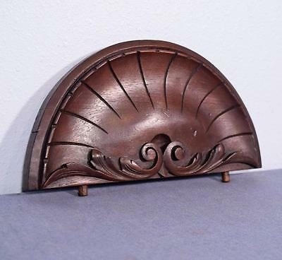 """*13"""" French Antique Pediment/Crest in Walnut Wood Shell"""