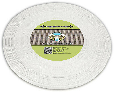 Country Brook Design® 1/2 Inch White Polypro Webbing, 50 Yards