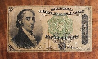 1863 US Fifty Cent Fractional Currency Series Of 1873