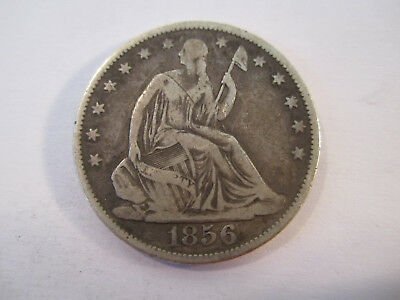 1856 O Seated Liberty Silver Half Dollar US Coin *1124
