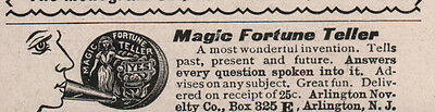 Early Ad Magic Fortune Teller Invention Answers All Questions
