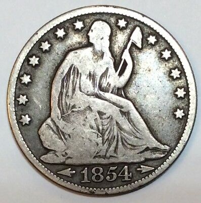 1854 O W/Arrows Seated Half Dollar - Great Type Coin - No Reserve