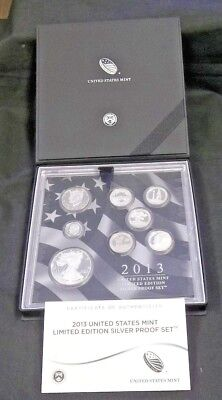 2013 Us Limited Edition Silver Proof Set With Ogp      (4173)