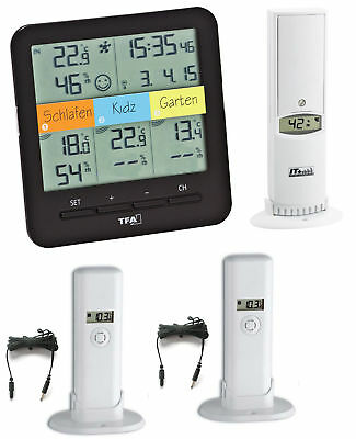 klimahome Top TFA 30.3060.01.top RC Thermo Hygro Cable Channel CLIMATE CONTROL