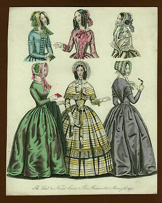 Mode Damenmode Ladies ' Fashion No 1, Kupferstich datiert 1845