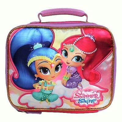 SHIMMER & SHINE Nickelodeon Girls PVC & Lead-Free Insulated Lunch Box Tote NWT