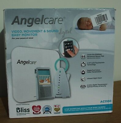Angelcare AC1100 Video Movement And Sound Baby Monitor RRP £219.99