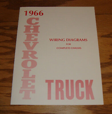 1966 Chevrolet Truck Wiring Diagram Manual for Complete Chassis 66 Chevy
