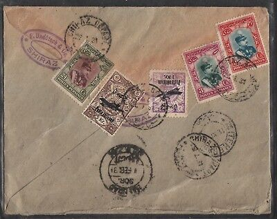 Persien Persia: Scarce airmail cover Shiraz via Bagdad to Germany 1931 !!