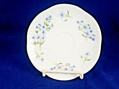 "Shelley BLUE ROCK SAUCER 5 3/4"" DAINTY SHAPE"
