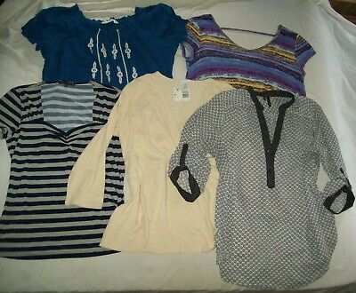 LOT 5 Shirts Woman's Blouse Sz XL Tops St Johns Bay Maurices Jaclyn Smith NWT