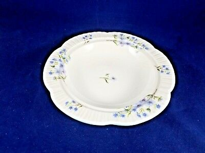 """Shelley BLUE ROCK Butter Tray no cover 7 1/4"""" DAINTY SHAPE"""