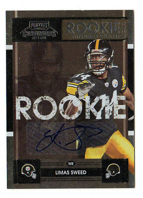 Limas Sweed Nfl 2008 Playoff Contenders Auto Rc (Pittsburgh Steelers)