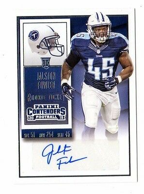 Jalston Fowler Nfl 2015 Panini Contenders Auto Rc (Tennessee Titans)