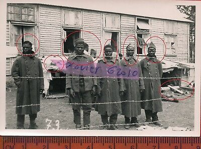TOP s18 photo orig all PRISONNIERS COLONIAUX STALAG à localiser  FRANCE 1940 ww2