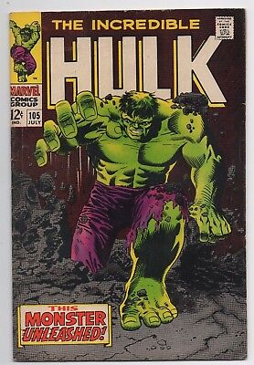 Marvel Comics The Incredible Hulk #105 1st Missing Link Silver Age