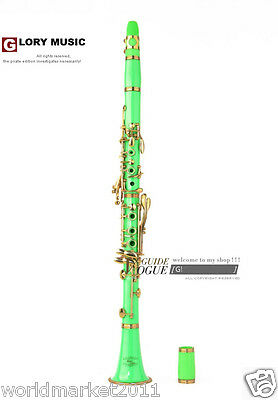 #12 Green B-Flat Hand Polished Harness Locking Musical Instruments Clarinets